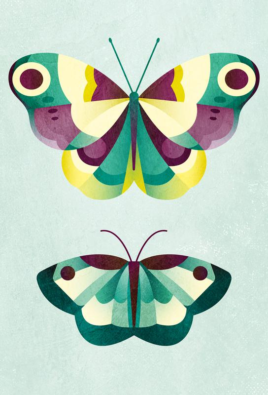 Schmetterlinge acrylglas print