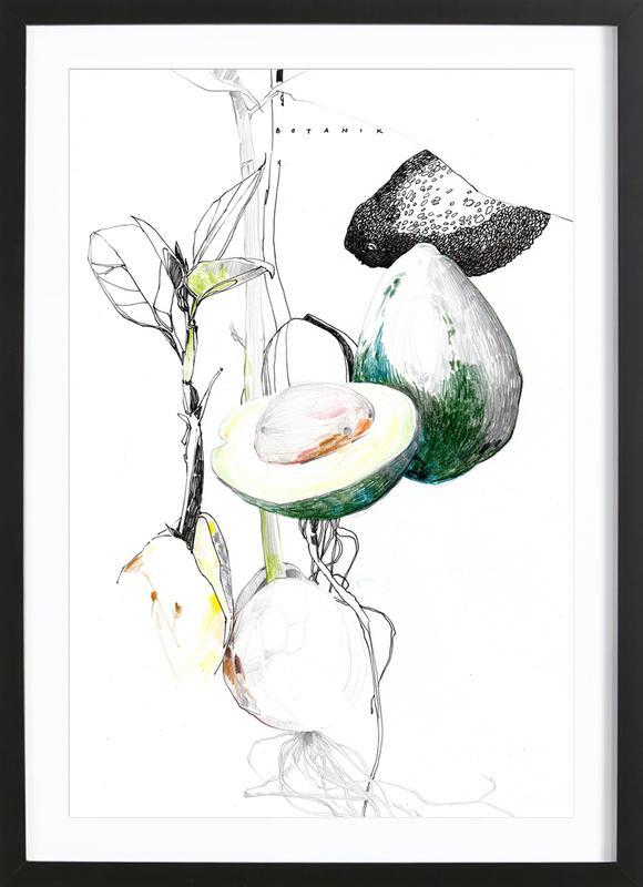 Avocado ingelijste print
