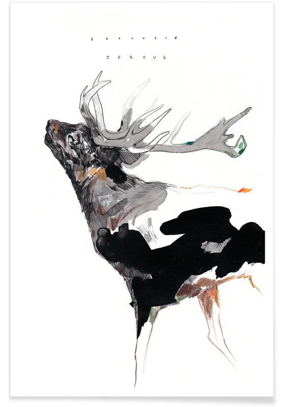 Deer, Nursery & Art for Kids, Hirsch 1 Poster