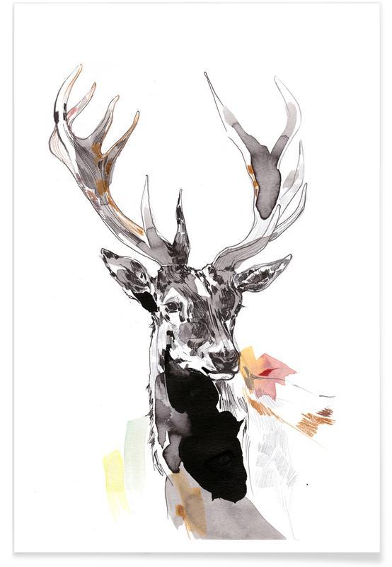 Deer, Nursery & Art for Kids, Hirsch 2 Poster
