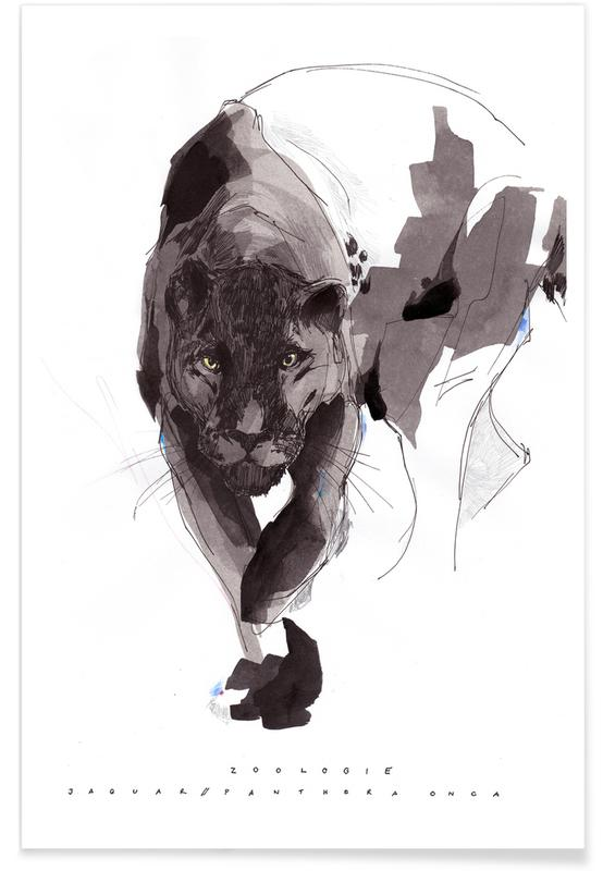 Black Panther Watercolour Poster