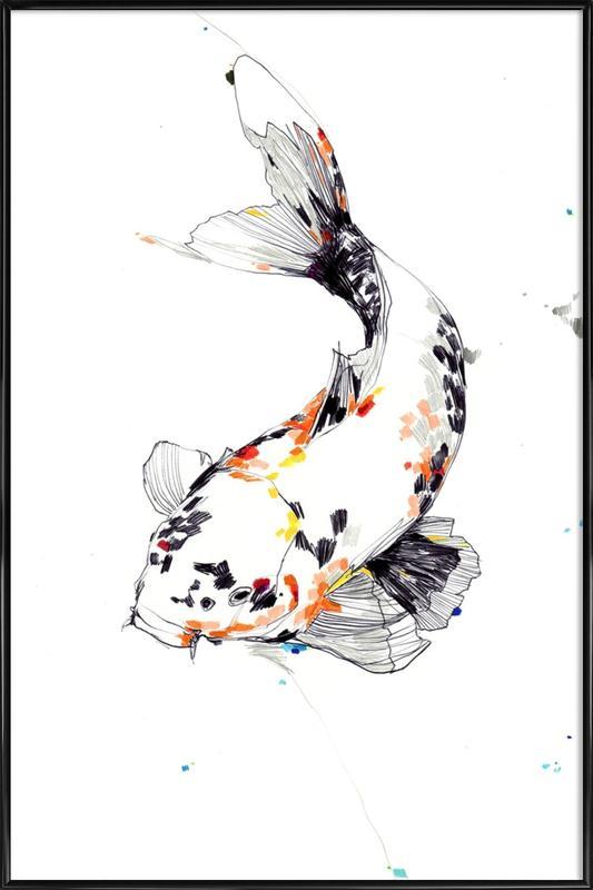 Koi -Bild mit Kunststoffrahmen