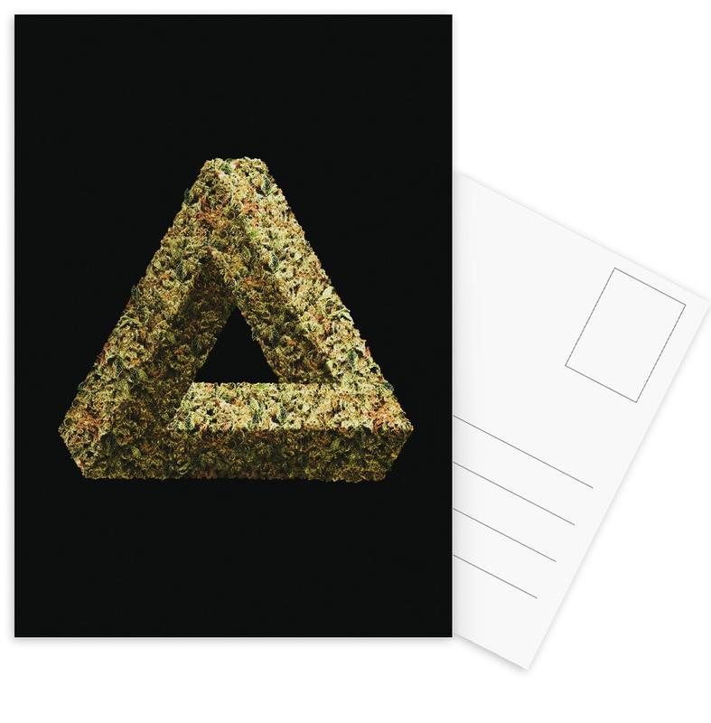Weed Penrose Triangle -Postkartenset