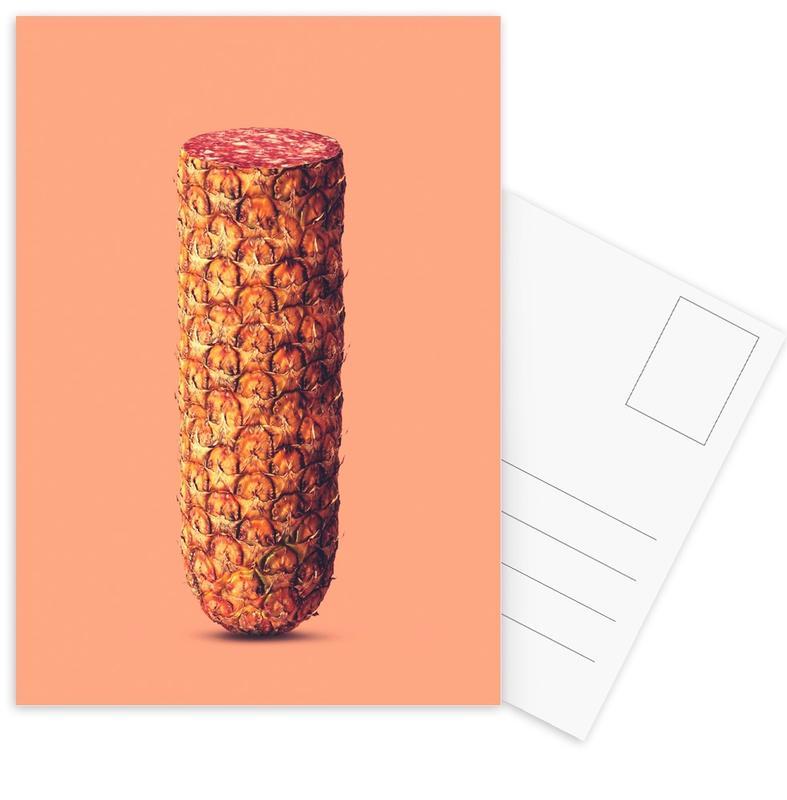 Funny, Pineapples, Pineapple Sausage Postcard Set