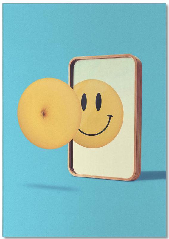 Smiley from Behind -Notizblock