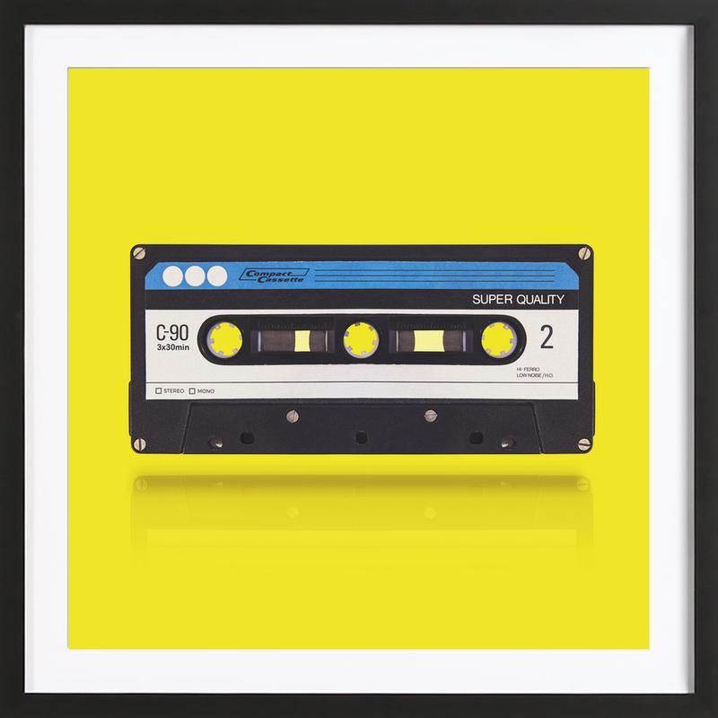 Cassette 3.0 -Bild mit Holzrahmen