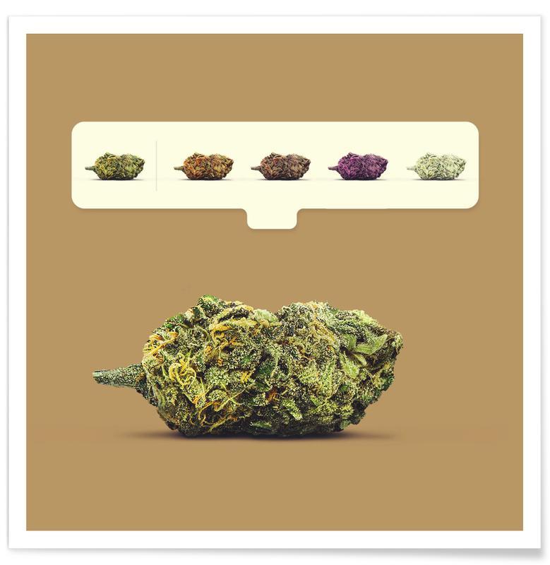 Lustig, Weed Emoji -Poster