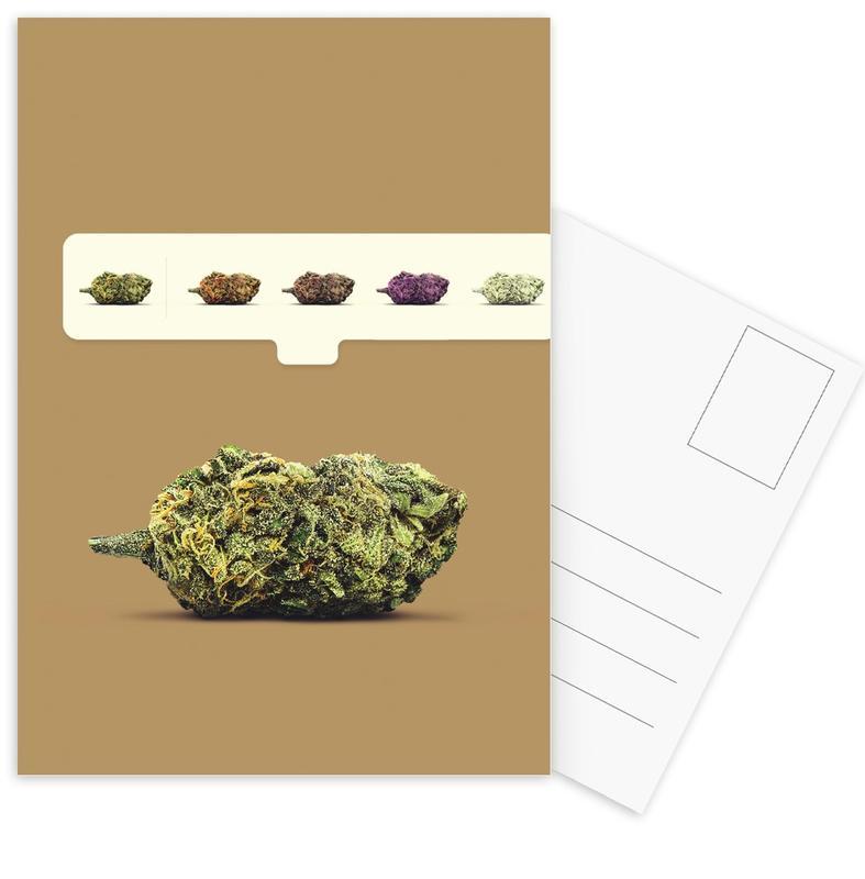 Weed Emoji -Postkartenset