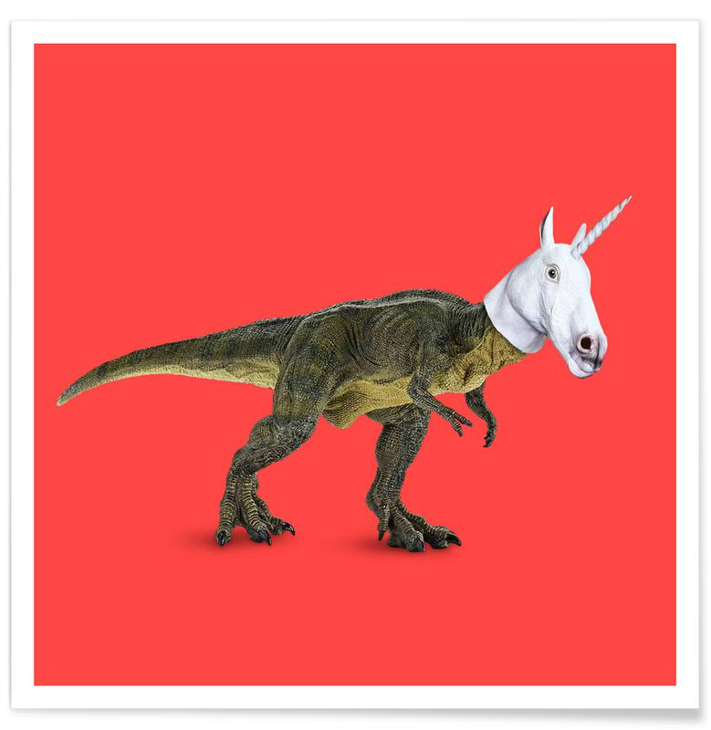 Dinosaurs, Funny, Everyone Wants to Be a Unicorn, Isn'T It? Poster