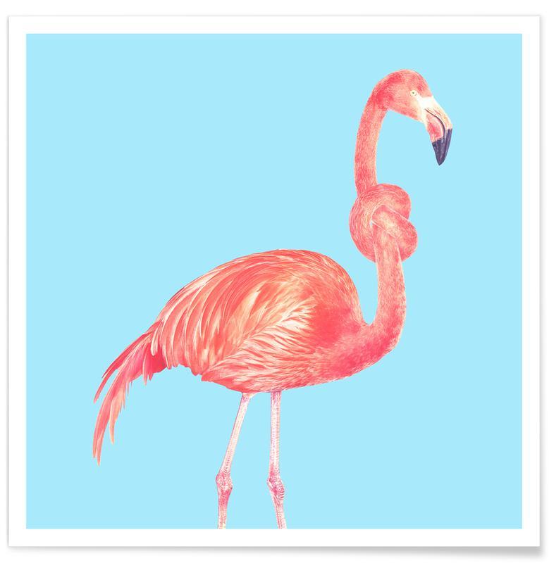Flamingo with a Big Problem -Poster