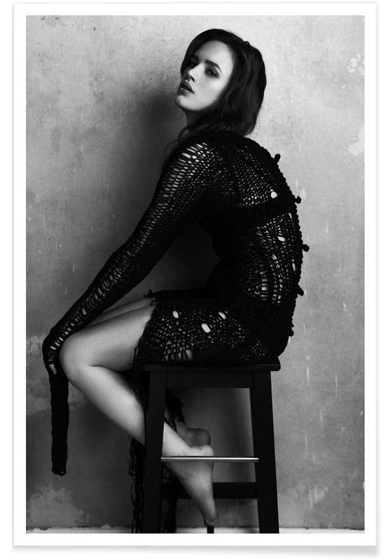 Zwart en wit, Modefotografie, Portretten, Sirens of the Caspian I poster