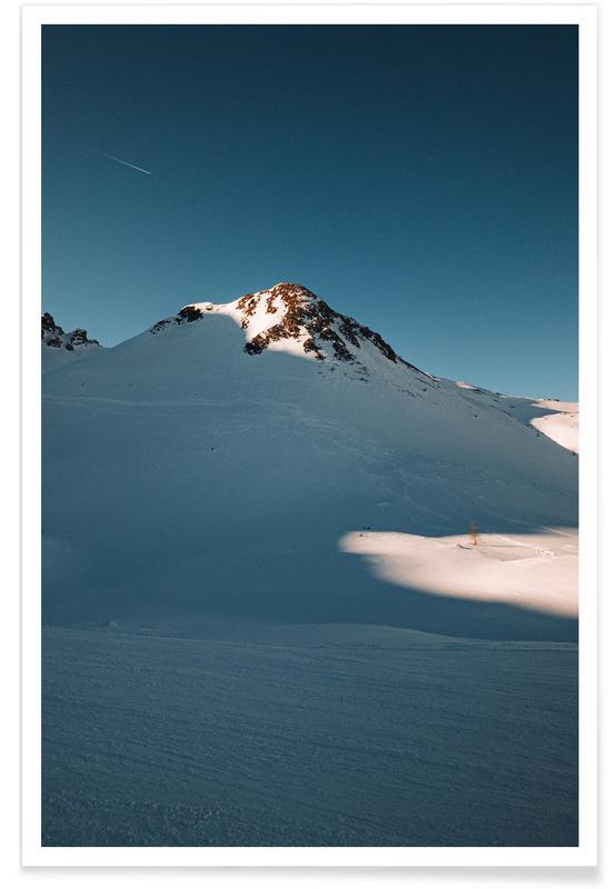 Montagnes, Snowy Sundown Vibes affiche