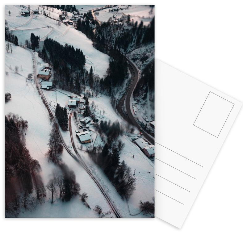 Mountains, Skiing & Snowboarding, Austrian Winter Wonderland Postcard Set