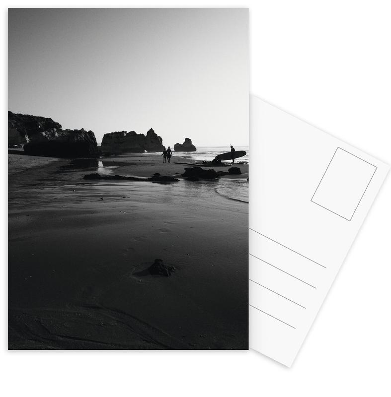 Noir & blanc, Plages, Surf, Let's Go Surfing cartes postales