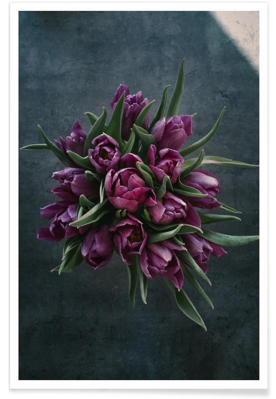 Tulpen, Felicitaties, Floral — Decorative Flower Bouquet Of Tulips poster