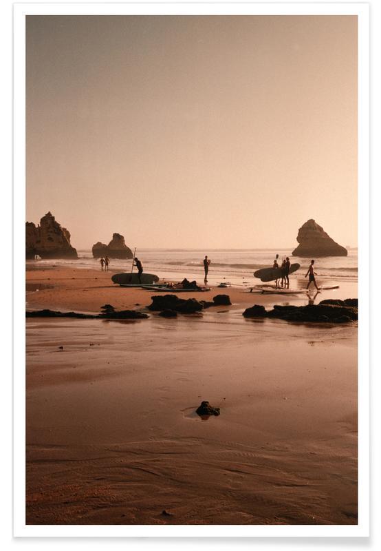 Reise, Surfen, Strände, Surf Boards At The Coast -Poster