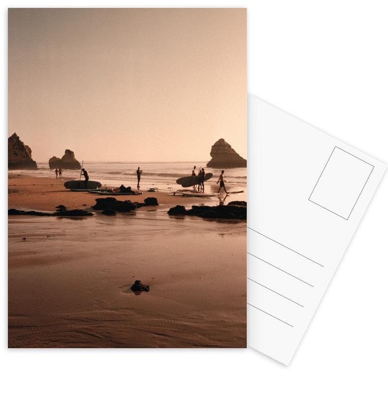 Beaches, Travel, Surfing, Surf Boards At The Coast Postcard Set