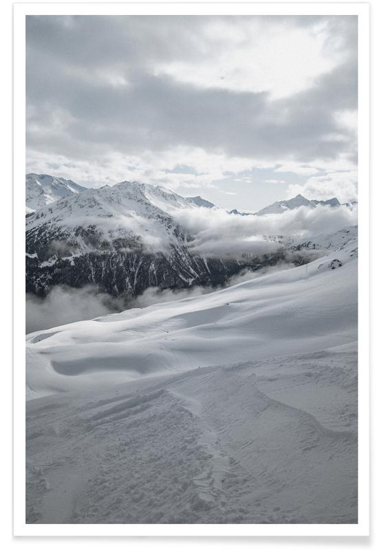 Voyages, Montagnes, Ski & snowboard, Clouds In The Mountains affiche