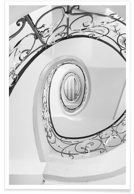 Black & White, Abstract — Swirl Poster