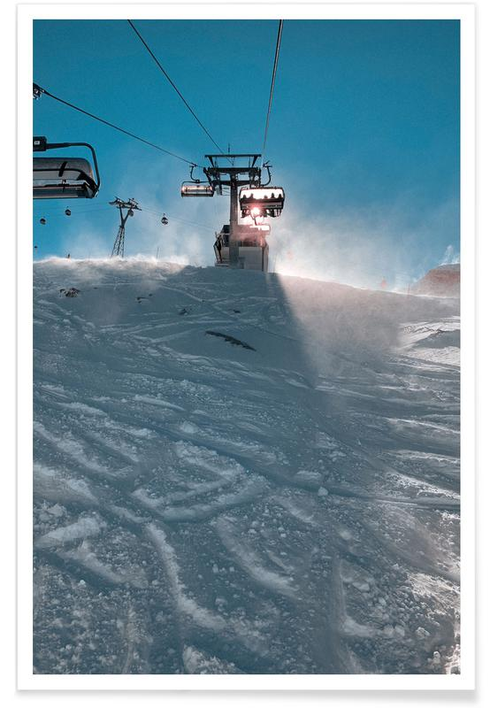 Skiing & Snowboarding, Mountains, Travel, Let's Go Skiing Poster