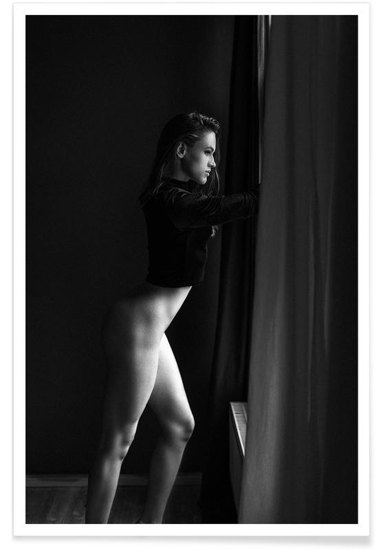 Black & White, Nude, Helen V Poster