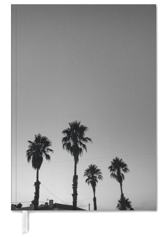 Bladeren en planten, Barcelona, Palmbomen, Zwart en wit, Group Of Palms agenda