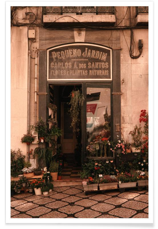 Barcelona, Architectonische details, Reizen, Plant Shop — Pequeno Jardim poster