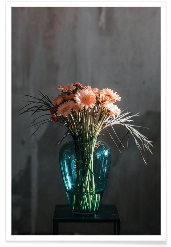 Felicitaties, Trouwen en bruiloften, Decorative Dark Bouquet Of Flowers poster