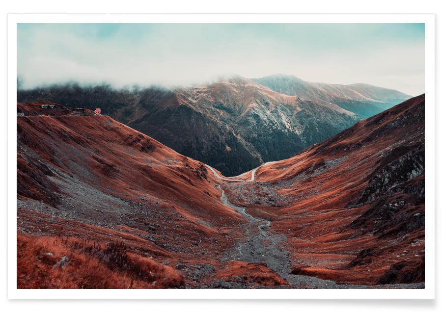 Berge, Abstrakte Landschaften, Reise, Romanian Mountains II -Poster
