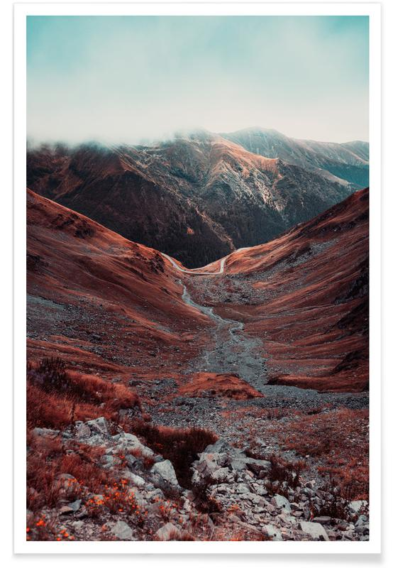 Mountains, Abstract Landscapes, Travel, Romanian Mountains III Poster