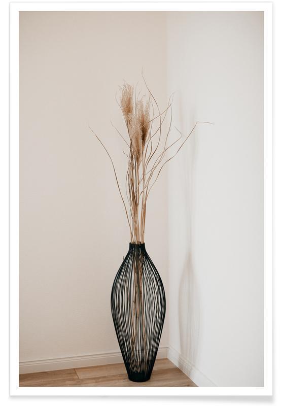 Bladeren en planten, Muted Vase poster