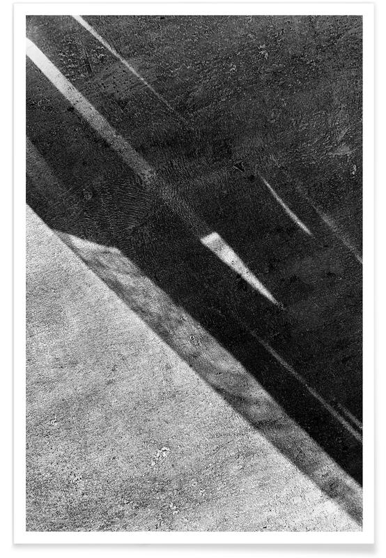 Paysages abstraits, Abstract – Black And White Surface affiche