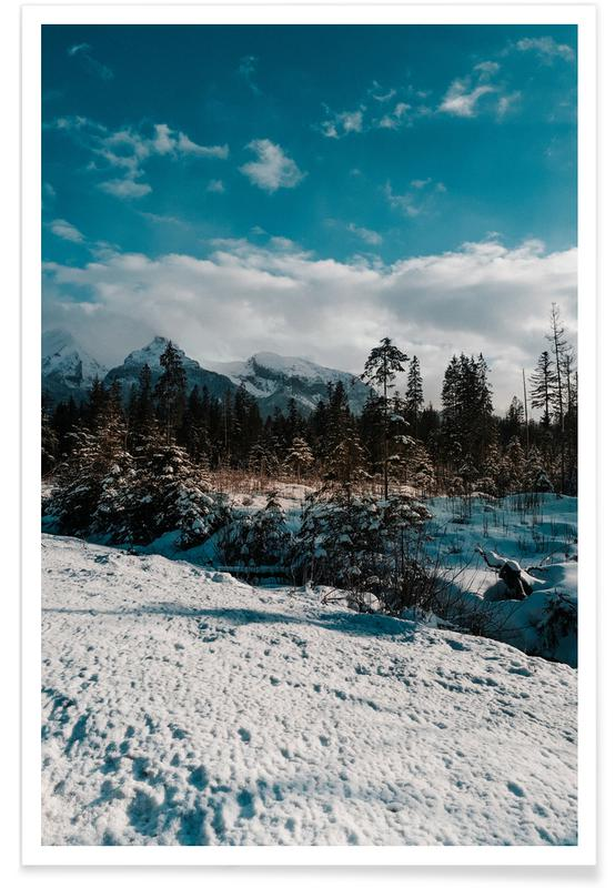 Paysages abstraits, Forêts, Mountains And Trees affiche