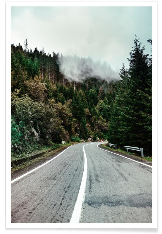 Abstract Landscapes, Forests, Street In The Forest Poster