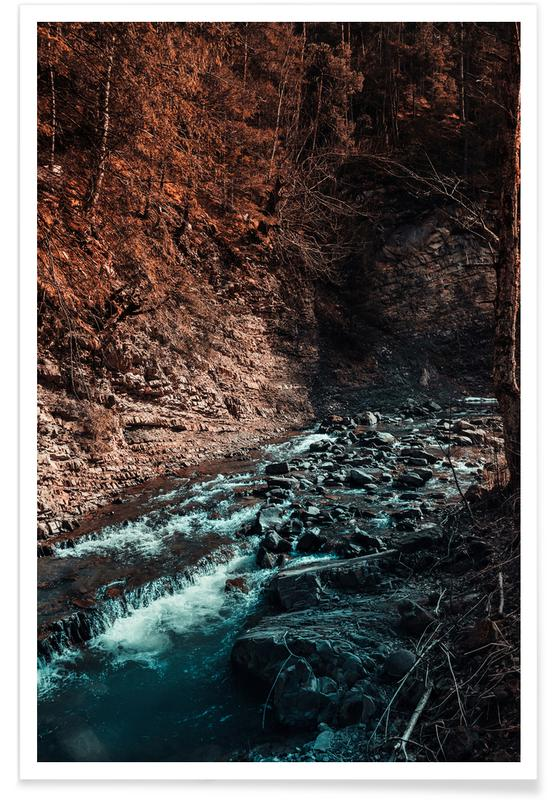 Abstract Landscapes, Forests, Idyllic River Through The Woods III Poster