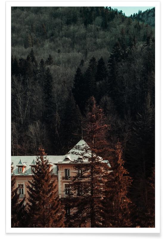 Abstrakte Landschaften, Wälder, Idyllic House In The Woods II -Poster