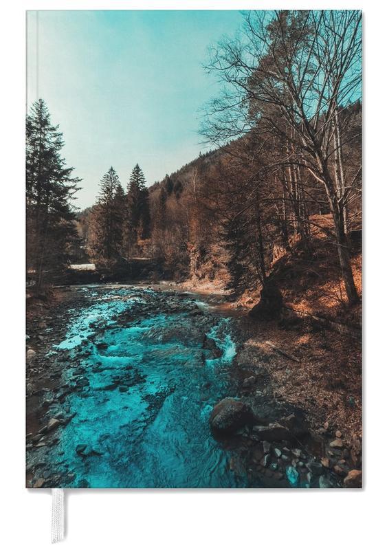 Abstracte landschappen, Bossen, Idyllic River Through The Woods agenda