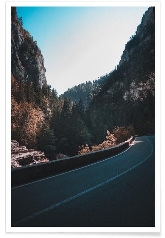 Abstract Landscapes, Forests, Mountain Street Poster