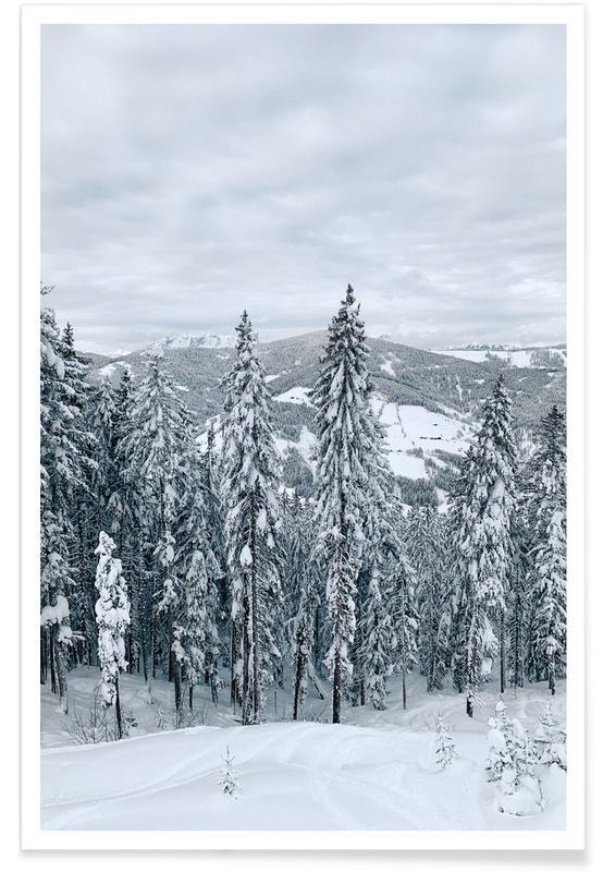 Abstrakte Landschaften, Wälder, Forest In The Alps -Poster
