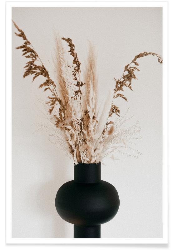 Paysages abstraits, Black Vase affiche