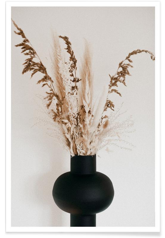 Abstracte landschappen, Black Vase poster