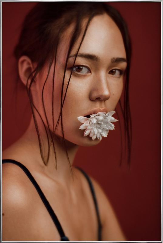 Flower I Poster in Aluminium Frame