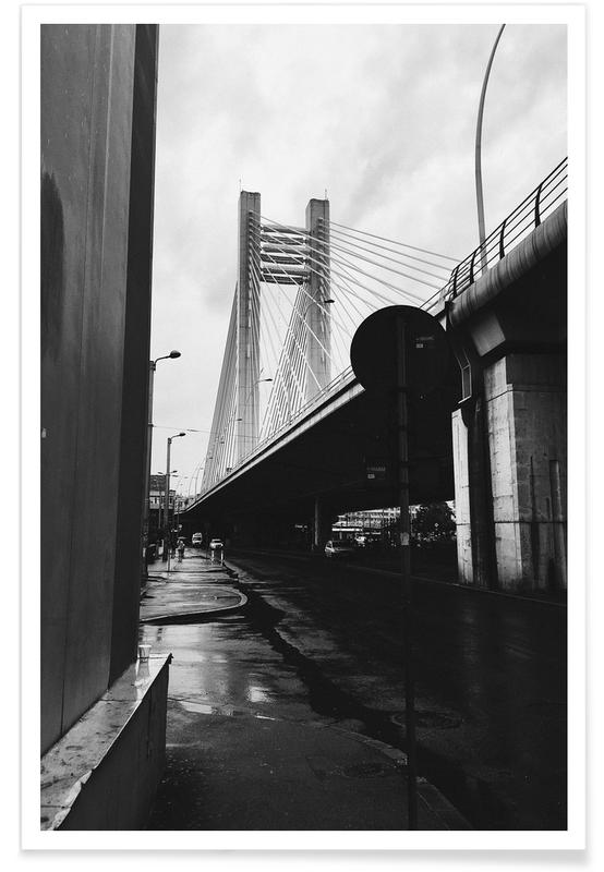 Noir & blanc, Ponts, URBN VIII affiche