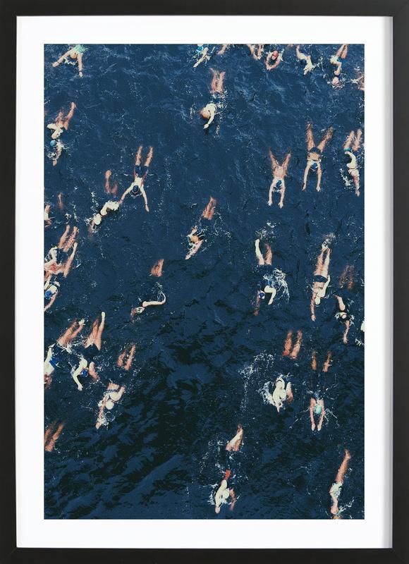 Swimming Framed Print