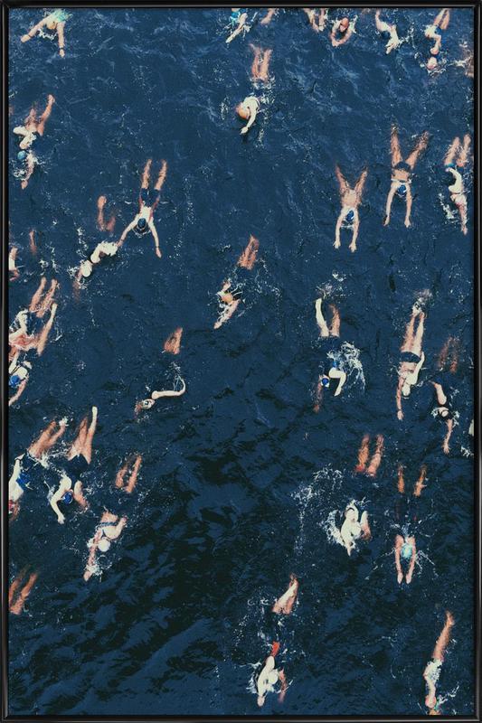 Swimming ingelijste poster