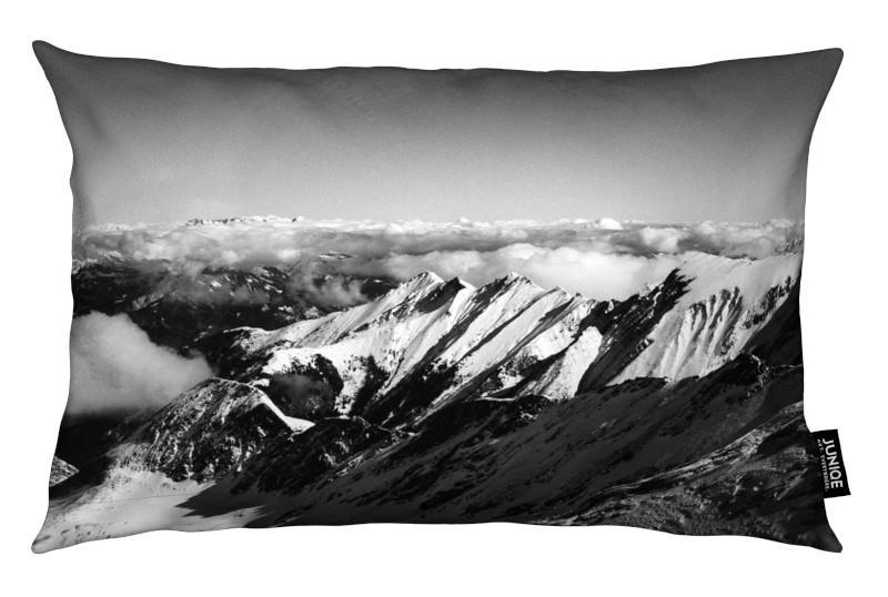 Noir & blanc, Montagnes, Mountains II coussin
