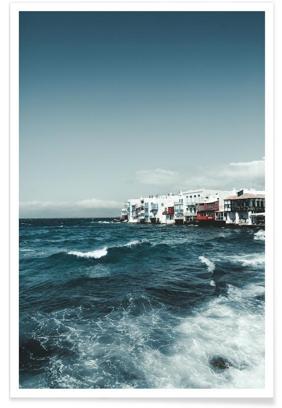 Wild Sea Waves Poster Juniqe
