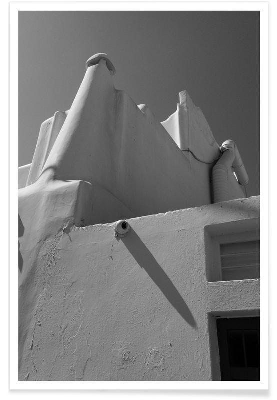 Détails architecturaux, Noir & blanc, Greek Corners affiche