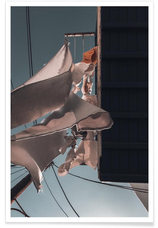 Détails architecturaux, Drying Clothes affiche