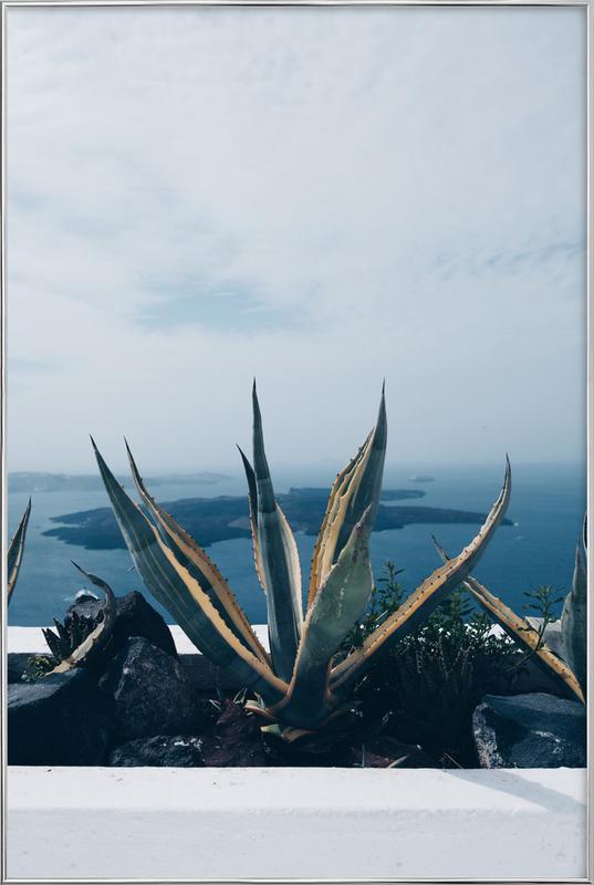 Santorini poster in aluminium lijst
